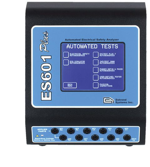 Electric safety tester / medical device ES601 Plus Datrend Systems Inc.