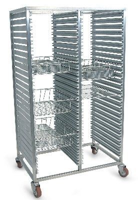 Transport trolley / for sterilization container / open-structure STERI-CART Conf Industries