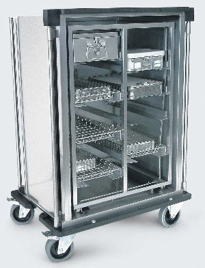 Transport trolley / for sterilization container / with hinged door / closed-structure 204X Conf Industries