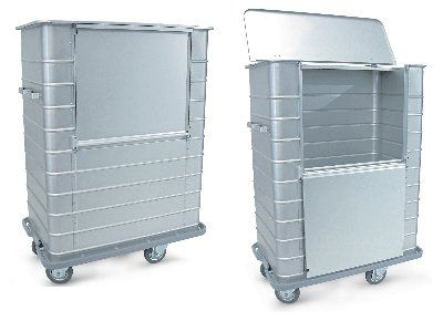 Dirty linen trolley / with large compartment 203CC Series Conf Industries
