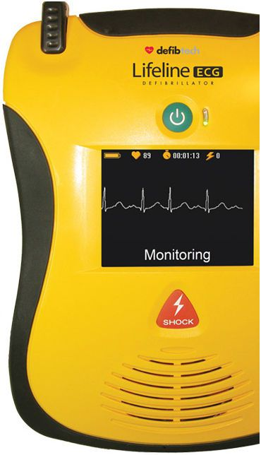 Semi-automatic external defibrillator / with ECG monitor Lifeline ECG Defibtech