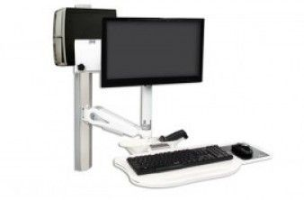Medical monitor support arm / wall-mounted / with keyboard arm AA2100 Cura Carts