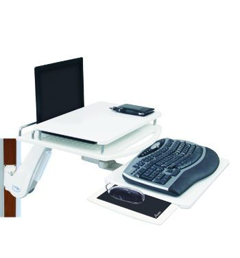 Medical monitor support arm / wall-mounted / with keyboard arm AA2000 Cura Carts
