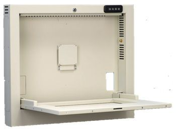 Medical computer workstation / recessed / wall-mounted PC600 Cura Carts