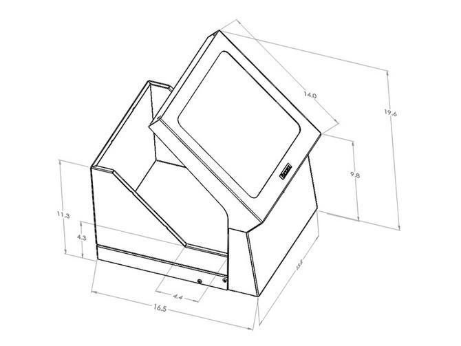 Beta ray radiation protective screen / gamma ray / with window BIODEX