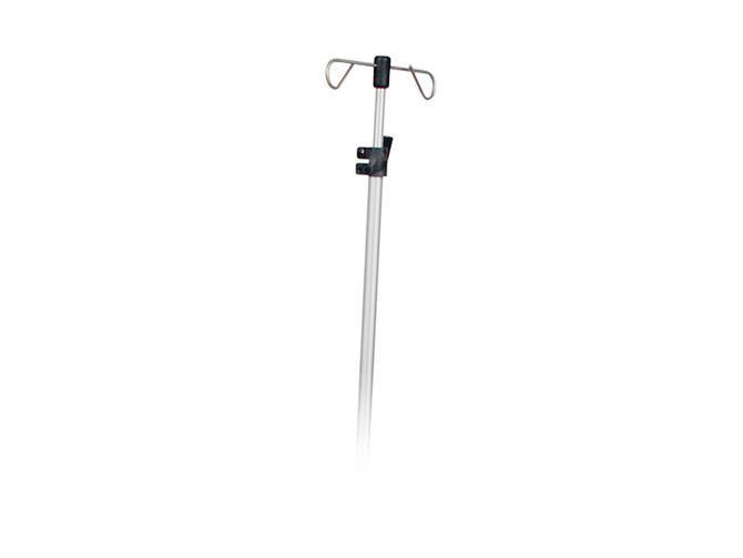2-hook IV pole / telescopic / bed BIODEX