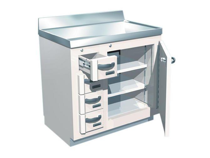 Storage cabinet / radioactive isotope / laboratory / lead-lined 244-16x BIODEX