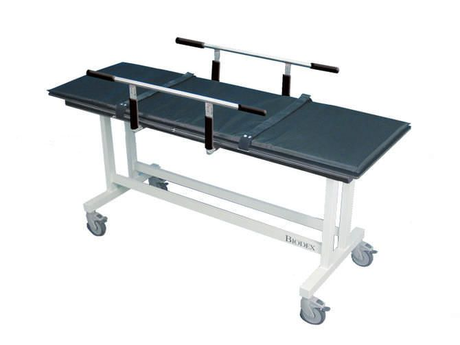 Transport stretcher trolley / non-magnetic / mechanical / 2-section BIODEX