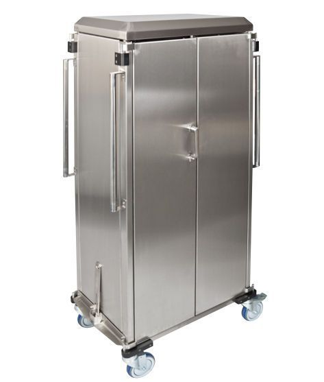 Transport trolley / closed-structure / stainless steel FLEXI COVERED Decon Stainless