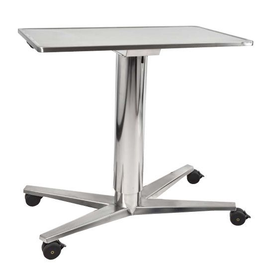 Instrument table / on casters / stainless steel / height-adjustable Decon Stainless