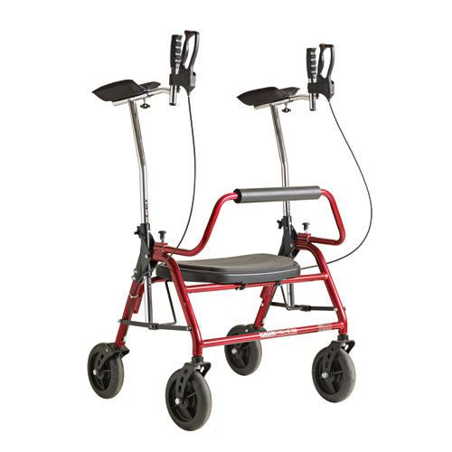 4-caster rollator / bariatric / with seat / height-adjustable max. 200 kg COBI XXL-Rehab