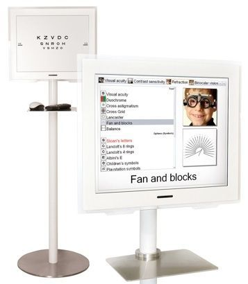 Optotype chart monitor / ophthalmic test / remote-controlled VISION CHART CSO Costruzione Strumenti Oftalmici