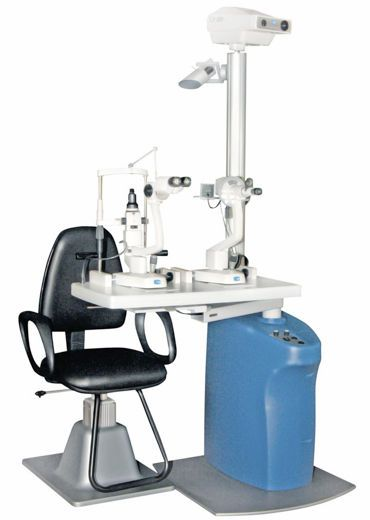 Ophthalmic workstation / equipped / with chair / 1-station COMPACT CSO Costruzione Strumenti Oftalmici