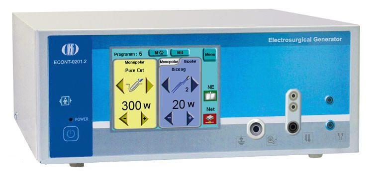Monopolar cutting HF electrosurgical unit / bipolar coagulation / monopolar coagulation ECONT-0201.2 Contact