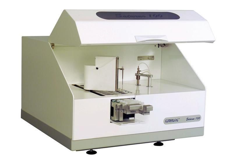 Automatic biochemistry analyzer / random access / veterinary SATURNO 100VET Crony Instruments
