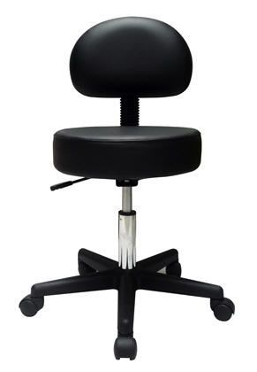 Medical stool / height-adjustable / on casters / with backrest Current Solutions