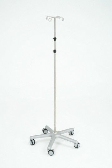 4-hook IV pole / telescopic / on casters 254 series Anetic Aid