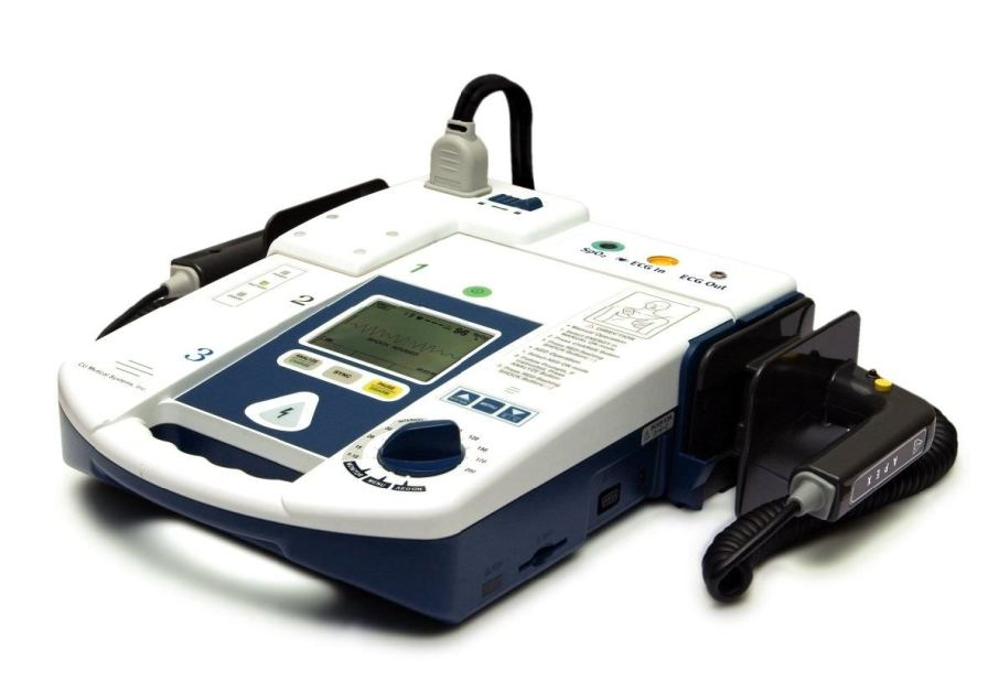Semi-automatic external defibrillator / with ECG and SpO2 monitor 200 J - PARAMEDIC CU-ER5 CU Medical Systems