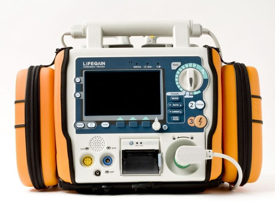 Semi-automatic external defibrillator / with ECG monitor / wireless LIFEGAIN CU-HD1 CU Medical Systems