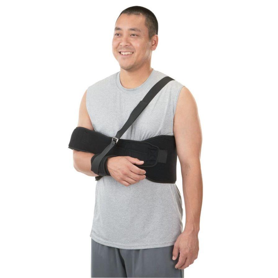 Shoulder splint (orthopedic immobilization) / with attachment strap 01078 / 01079 Breg