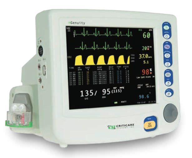 Compact multi-parameter monitor 8100E1 nGenuity™ series Criticare Systems