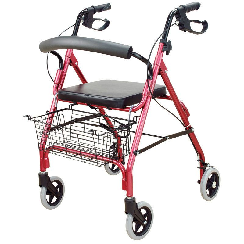 Height-adjustable walker / folding / with seat WR-1 Brecknell
