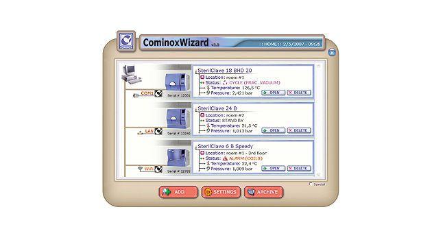 Management software / medical / for sterilization service COMINOXWIZARD COMINOX