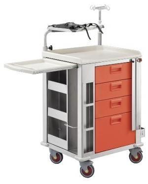 Emergency trolley / with CPR board / with IV pole / with oxygen cylinder holder LUXOR Centro Forniture Sanitarie