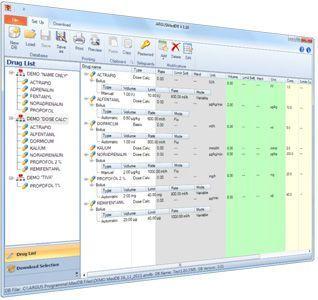 Software / infusion pump management ARGUSmedDB Codan Argus