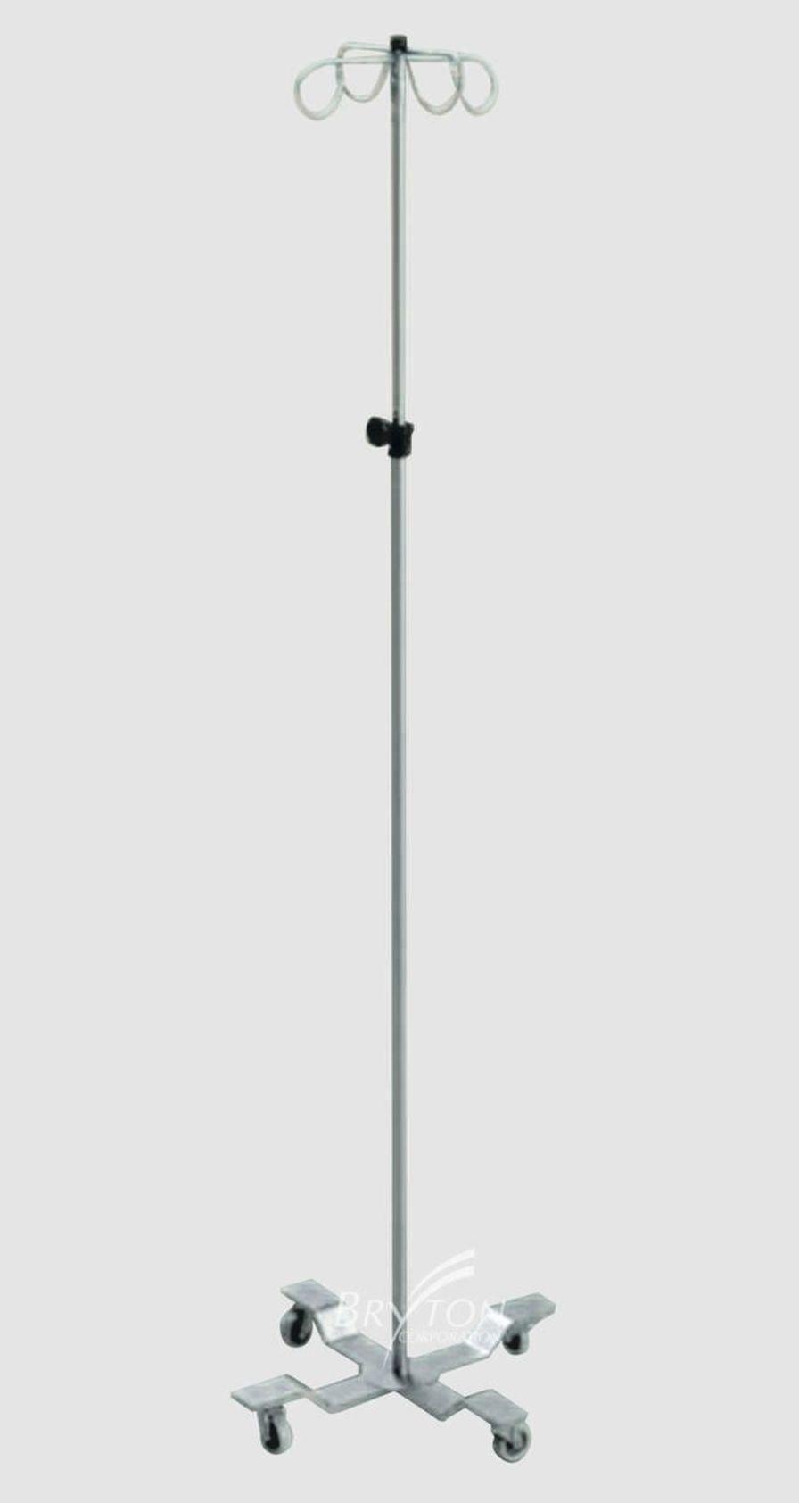 4-hook IV pole / telescopic / on casters IVP-7240 BRYTON CORPORATION