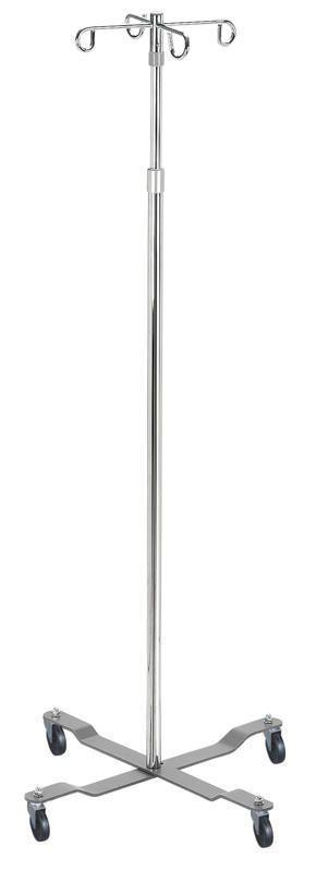 4-hook IV pole / telescopic / on casters IVP-9640 BRYTON CORPORATION
