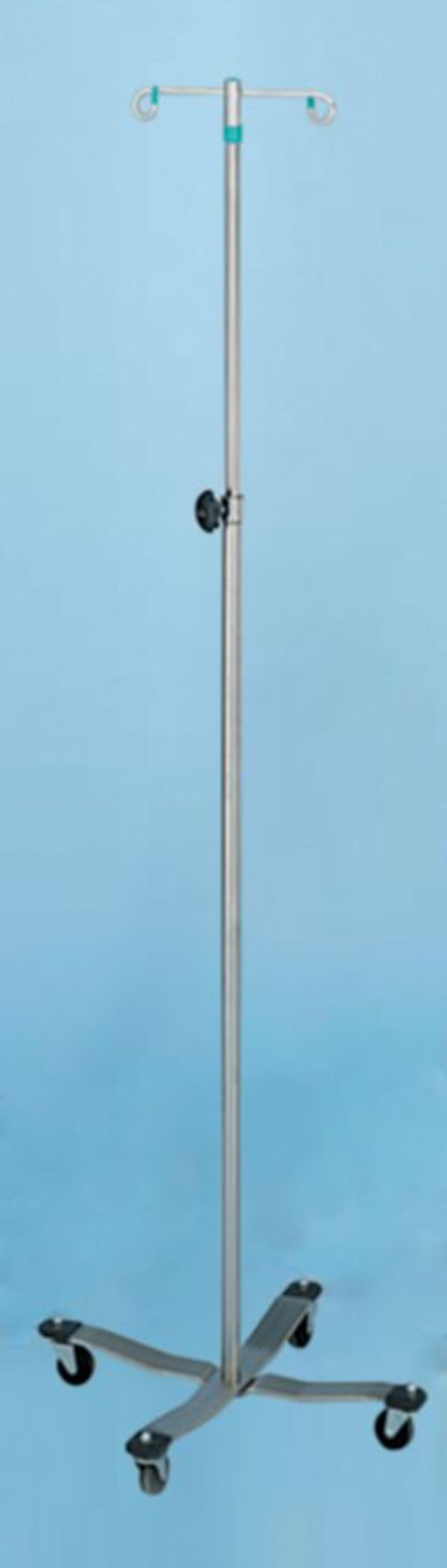 2-hook IV pole / telescopic / on casters IVP-6250 BRYTON CORPORATION