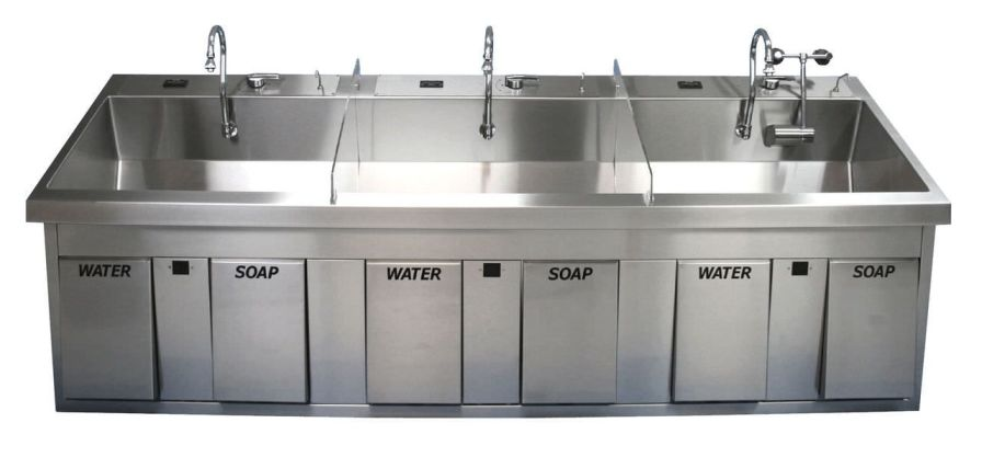 Stainless steel surgical sink / 3 stations MSS-2960 BRYTON CORPORATION