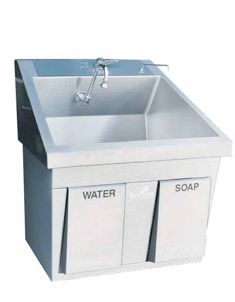 Stainless steel surgical sink / 1-station MSS-2320 BRYTON CORPORATION