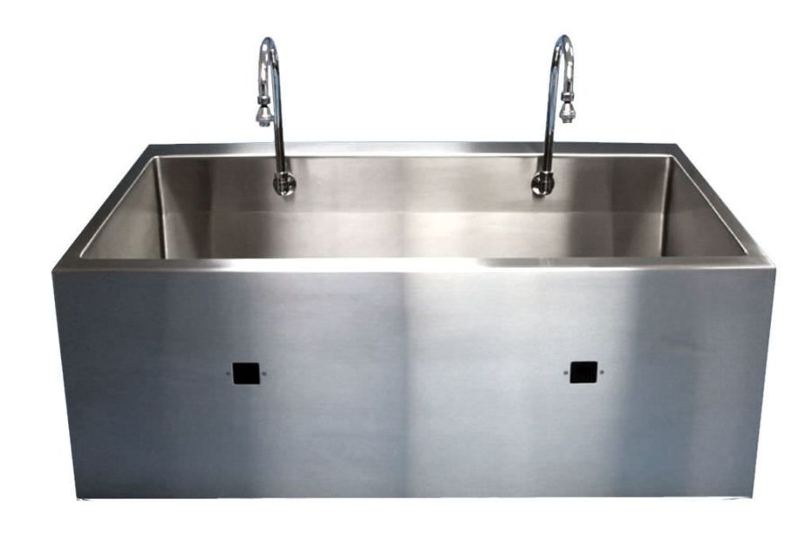 Stainless steel surgical sink / 2-station MSS-2640IR BRYTON CORPORATION