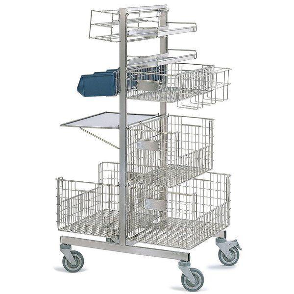 Stainless steel trolley STERI.CADDIE Caddie