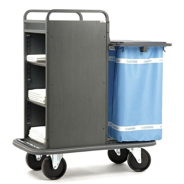 Clean linen trolley / dirty linen / with shelf / 2-bag IBIZA Caddie