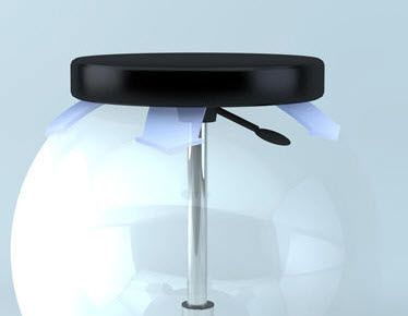Medical stool / height-adjustable / on casters COMFORT-SWING brumaba GmbH