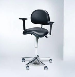Medical stool / on casters / height-adjustable / with backrest BALANCE PLUS brumaba GmbH