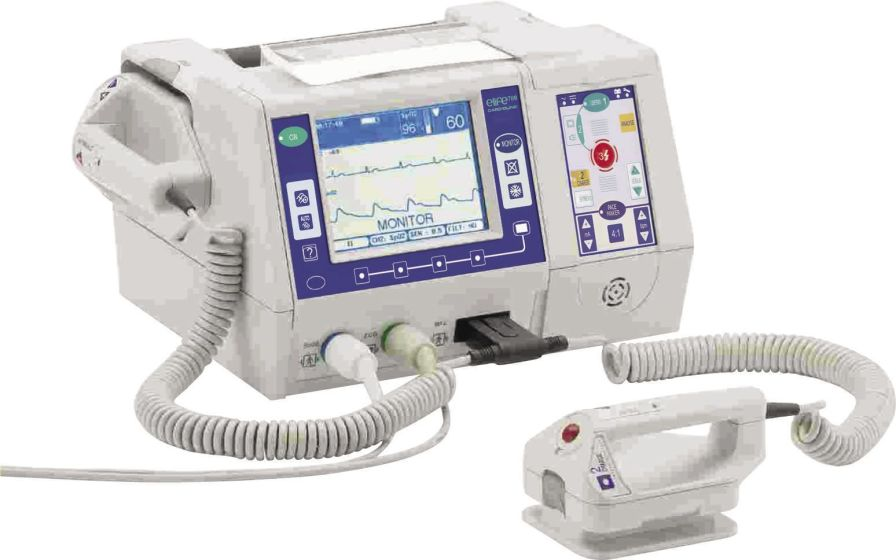 Semi-automatic external defibrillator / compact multi-parameter monitor elife700 Cardioline