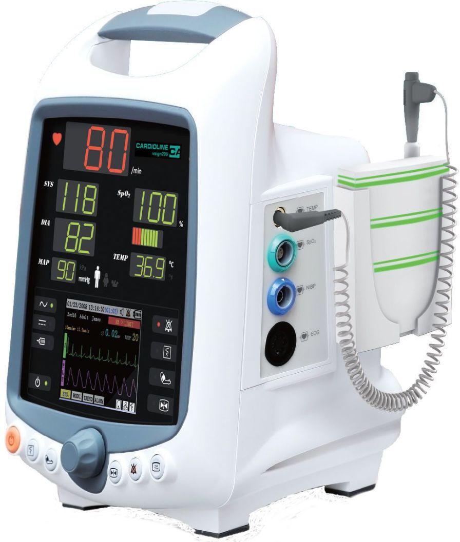 Compact multi-parameter monitor / transport vsign200 Cardioline