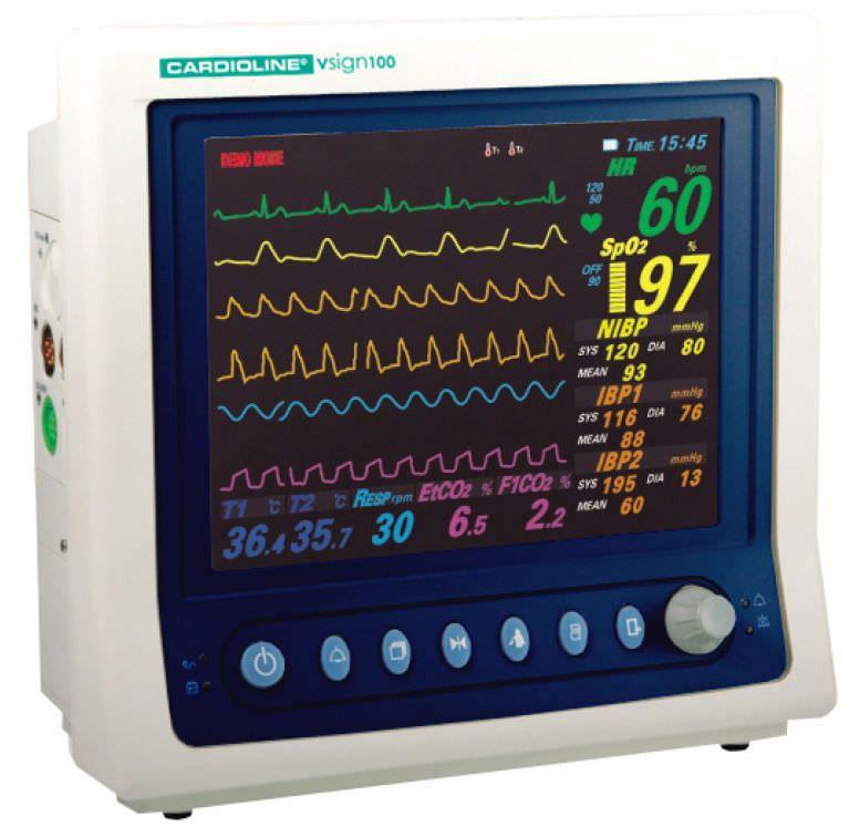 Compact multi-parameter monitor vsign100 Cardioline