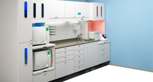 Sterilization cabinet / dentist office ICC Sterilization System A-dec