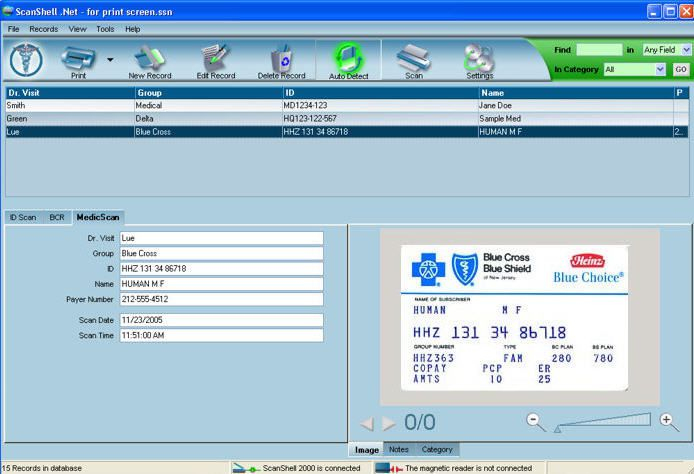 Medical software / for health insurance card scanners MEDICSCAN® PRO OCR Card Scanning Solutions