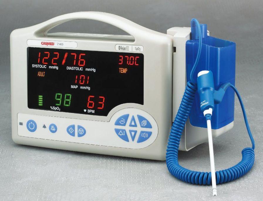 SpO2 vital signs monitor / temperature / portable 740 series CAS Medical Systems