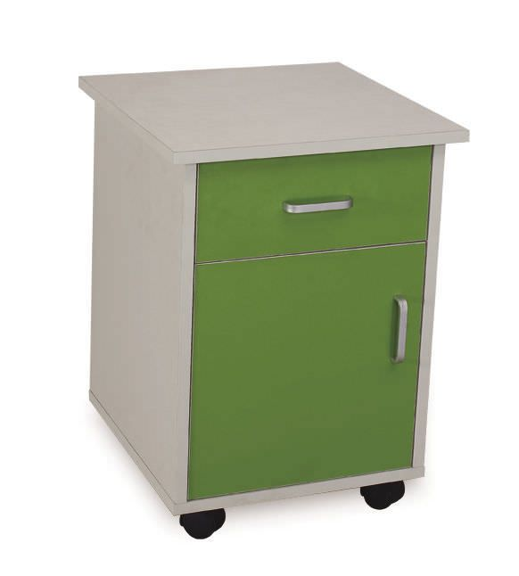 Medical bedside cabinet / hospital / 1-door / 1-drawer BT163 Better Medical Technology