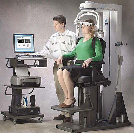 Cervical exerciser / computer-based MCU™ BTE Technologies