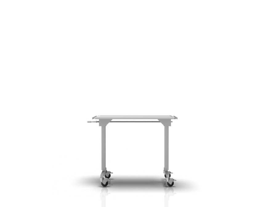 Height-adjustable Mayo table / on casters 2-002 ALVO Medical