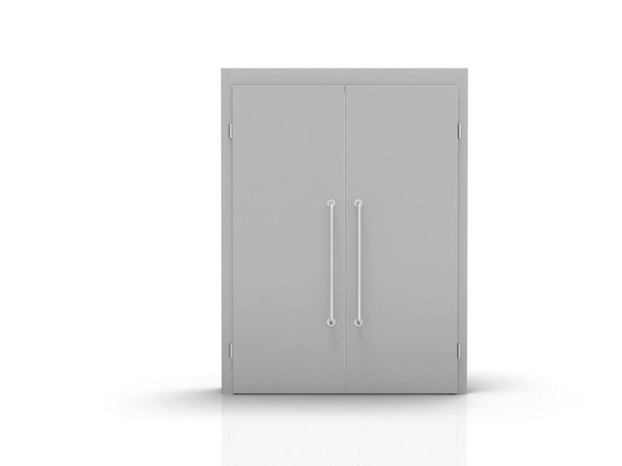 Swinging double door / stainless steel ALVO Medical