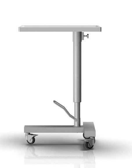Hydraulic Mayo table / on casters / height-adjustable 2-001 ALVO Medical